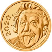 1⁄4 Franc (Albert Einstein) – reverse