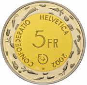 5 Francs (Escalade; trial) -  obverse