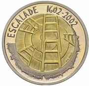 5 Francs (Escalade; trial) -  reverse