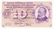 10 Francs (5th series) – obverse