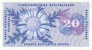 20 Francs (5th series) – reverse