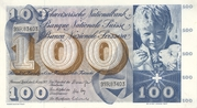 100 Francs (5th series) – obverse