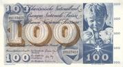 100 Francs (5th series) – obverse