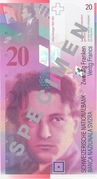 20 Francs (Arthur Honegger) – obverse