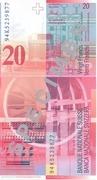 20 Francs (Arthur Honegger) – reverse