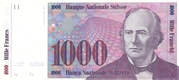 1000 Francs (7th series, reserve banknote) – obverse