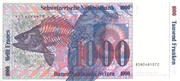 1000 Francs (7th series, reserve banknote) – reverse