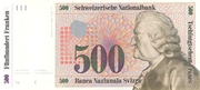500 Francs (7th series, reserve banknote) – obverse