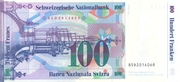 100 Francs (7th series, reserve banknote) – reverse