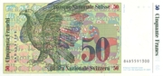 50 Francs (7th series, reserve banknote) – reverse
