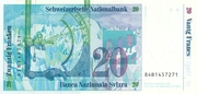 20 Francs (7th series, reserve banknote) – reverse