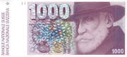 1000 Francs (6th series) – obverse