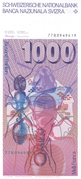 1000 Francs (6th series) – reverse