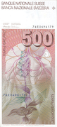 500 Francs (6th series) – reverse