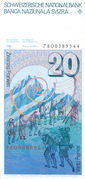20 Francs (6th series) – reverse