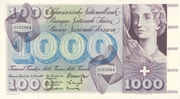 1000 Francs (5th series) – obverse