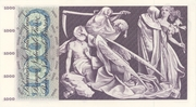1000 Francs (5th series) – reverse