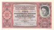 500 Francs (4th series, reserve banknote) – obverse