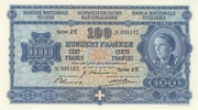 100 Francs (4th series, reserve banknote) – obverse