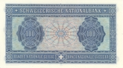 100 Francs (4th series, reserve banknote) – reverse