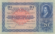 20 Francs (3rd series) – obverse