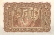 500 Francs (2nd series, type 3) – reverse
