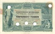 500 Francs (1st series) – obverse