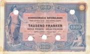 1000 Francs (1st series) – obverse