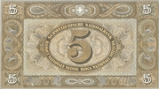 5 Francs (2nd series) – reverse
