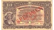 10 Francs (2nd series, reserve banknote) – obverse