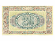 20 Francs (2nd series, type 1) – reverse