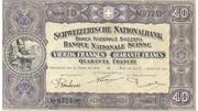 40 Francs (2nd series, reserve banknote) – obverse