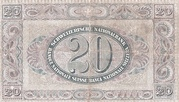 20 Francs (2nd series, type 2) – reverse
