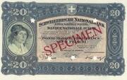 20 Francs (3rd series, reserve banknote) – obverse