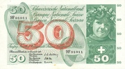 50 Francs (5th series, type 1) – obverse