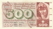 500 Francs (5th series, type 1) – obverse