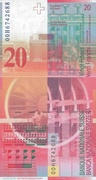 20 Francs (8th series) – reverse