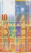 10 Francs (8th series) – reverse