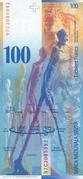 100 Francs (8th series) – reverse