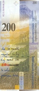 200 Francs (8th series) – reverse