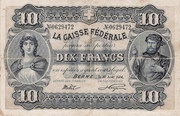 10 Francs - Federal Treasury (in French) – obverse