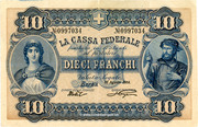 10 Francs - Federal Treasury (in Italian) – obverse