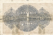 20 Francs - Federal Treasury (in French) – reverse