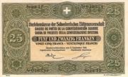 25 Francs - State Loan Bank – obverse