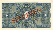 1 Franc - State Loan Bank (reserve banknote) -  reverse