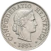 10 Rappen (Libertas; copper-nickel) -  obverse