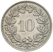 10 Rappen (Libertas; copper-nickel) -  reverse