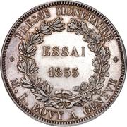 5 Francs (Pattern; silver) – reverse