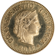 5 Rappen (Libertas; aluminium-bronze) -  obverse