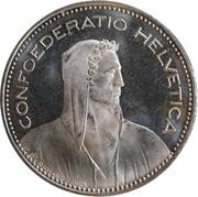 5 Francs (Herdsman; copper-nickel; embossed edge) -  obverse
